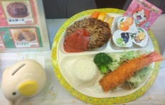 "Success of the children's menu in the restaurant ""Tonkatsu"""