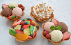 Waffle ice-cream bowls for Alliance VV LLC (Mytishchi)