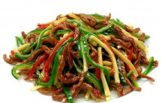 Fried beef & pepper