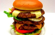 Triple cheeseburger replica