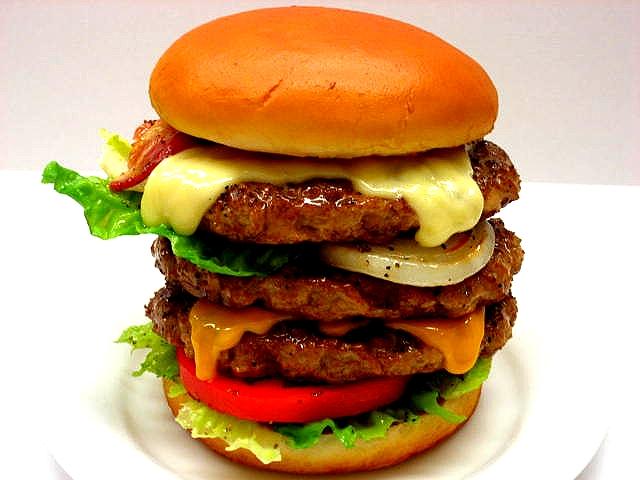 Triple cheeseburger replica