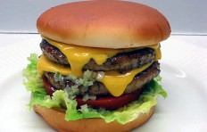 Double cheeseburger replica