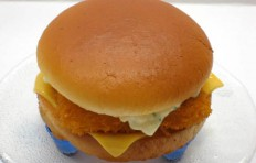 Fish cheeseburger replica