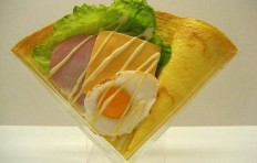 Fried egg w. ham and cheese