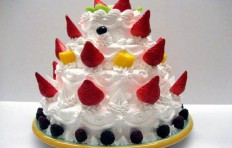 Strawberry cake (25 cm x 31 cm)