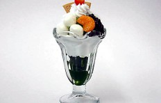 Green tea parfait (glass 145x98mm)