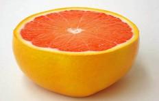 Half-cut ruby grapefruit (large)
