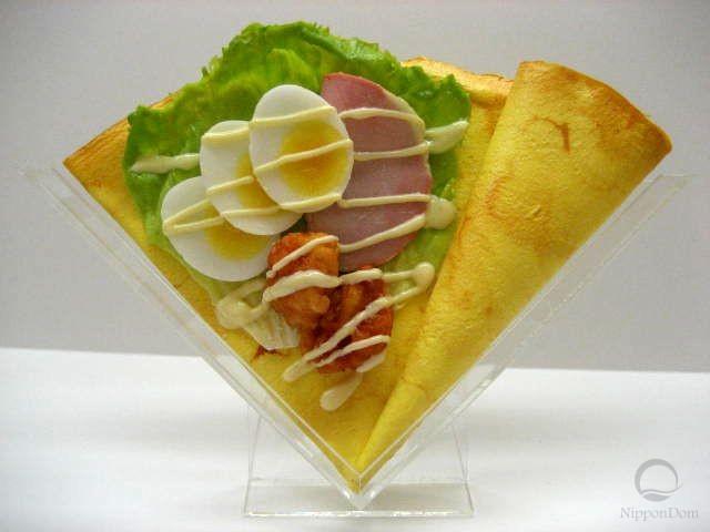Салат из ветчины и вареных яиц