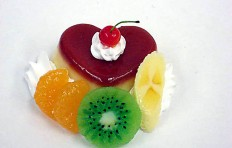 Heart-shaped pudding