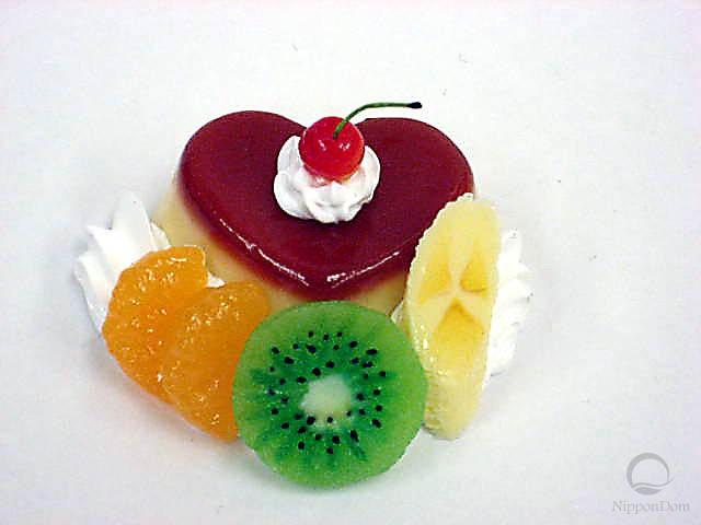Heart-shaped pudding