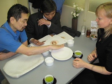 Craftsmen are calculating cost of the dish