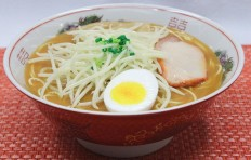 Replica of miso-soup ramen w. bean sprouts