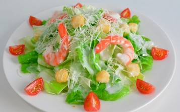 Cost of fake Caesar salad with Prawn $175
