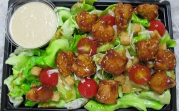 """Cost of the fake salad """"Caesar with Chicken"""" $187"""