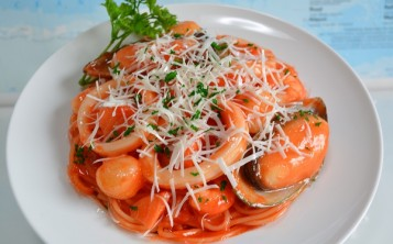 Cost of Spaghetti with Seafood $167