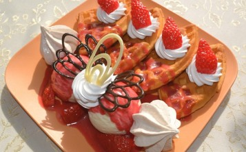 "Cost of fake ""Waffles with strawberries"" 199 $"