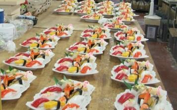 Муляжи наборов суши японской сети ресторанов готовы к отправке заказчику