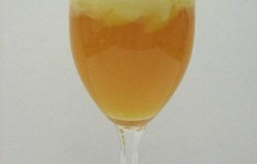Orange ice cream float