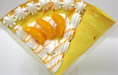 Replica pancake with peach and cream-1