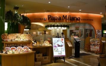 """Pizzeria """"Papa Milano"""". Facade."""