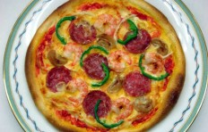 Salami and shrimp pizza (20 cm)-2