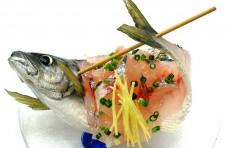 Skewered horse mackerel