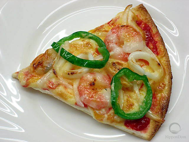 A slice of seafood pizza-1
