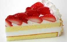 A replica of strawberry cake (110×60 mm)