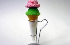 Strawberry and melon ice cream