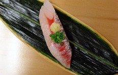 Replica of sushi Sweetfish
