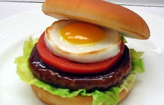 Teriyaki hamburger replica