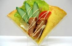 Salad w. teriyaki chicken and vegetables