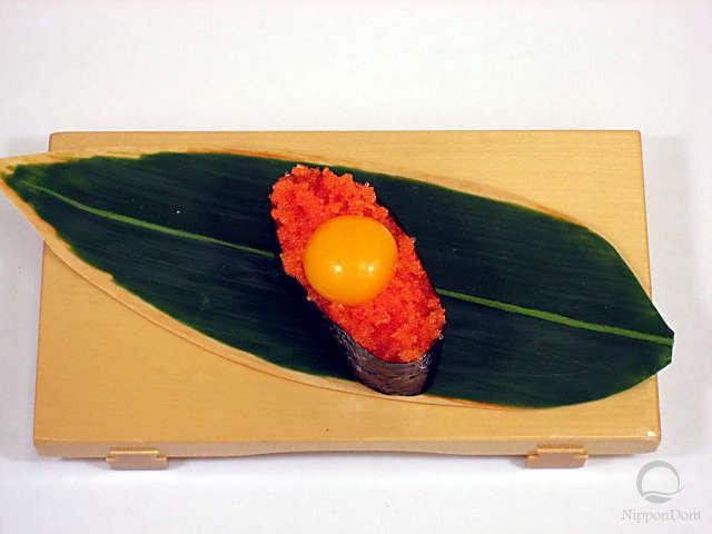 Tobiko with quail egg yolk-1