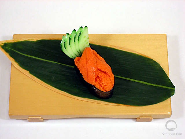 Urchin roe with cucumber