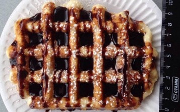 Waffle with topping