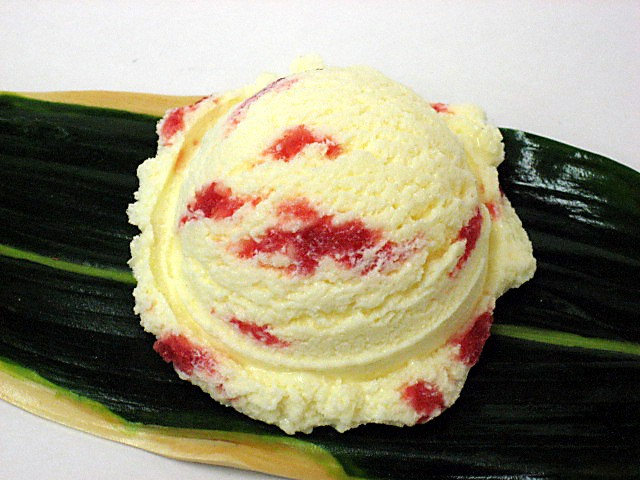 Vanilla ice cream with strawberry sauce (16)-1