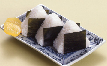 Plastic replicas of dishes - Onigiri