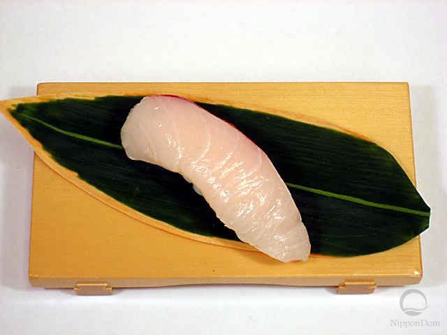 "Replica of sushi ""Yellowtail (3)"""