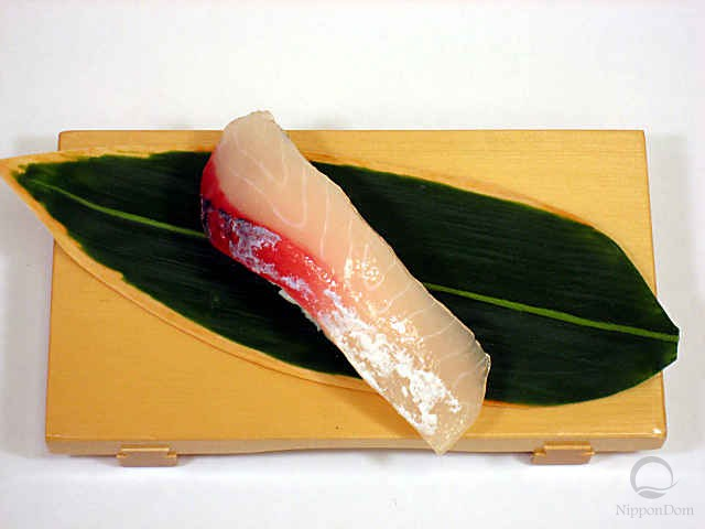 "Replica of sushi ""Yellowtail (6)"""